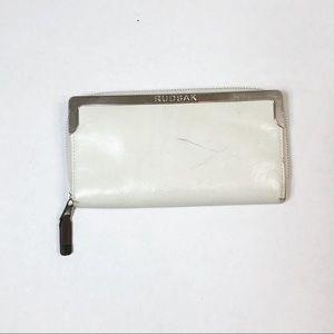 Rudsak white leather Wallet